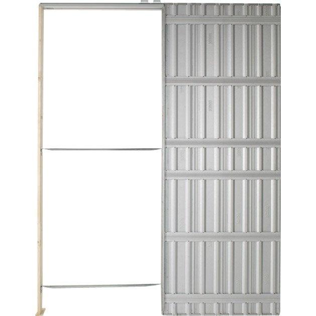 Syst me galandage aluminium anodis chassis plein scrigno 73 cm leroy merlin - Leroy merlin galandage ...