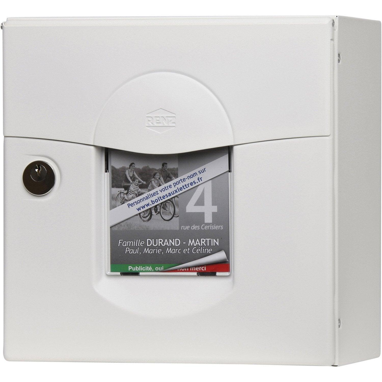 bo te aux lettres compacte 1 porte renz solea acier blanc. Black Bedroom Furniture Sets. Home Design Ideas