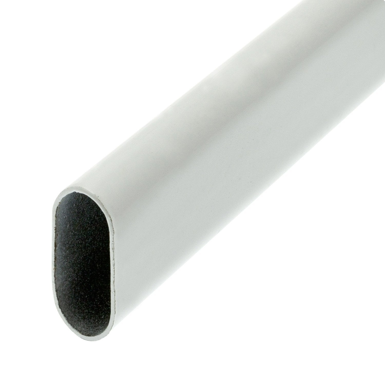 Barre de penderie d30 x 15 mm ovale blanc 2 m leroy merlin - Barre penderie leroy merlin ...