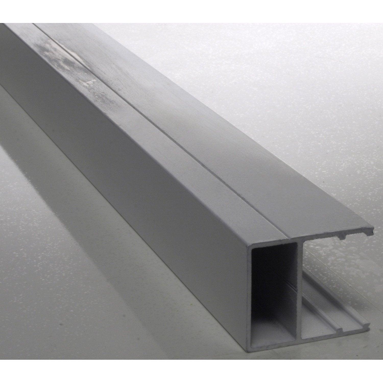 profil bordure pour plaque ep 32 mm blanc laqu l 4 m. Black Bedroom Furniture Sets. Home Design Ideas