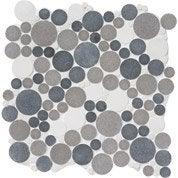 Mosaïque sol et mur Splash gris et blanc