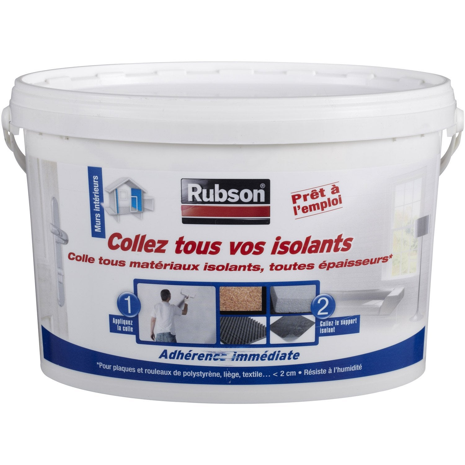 Colle pour mat riaux isolants universelle rubson x l for Colle carreaux piscine