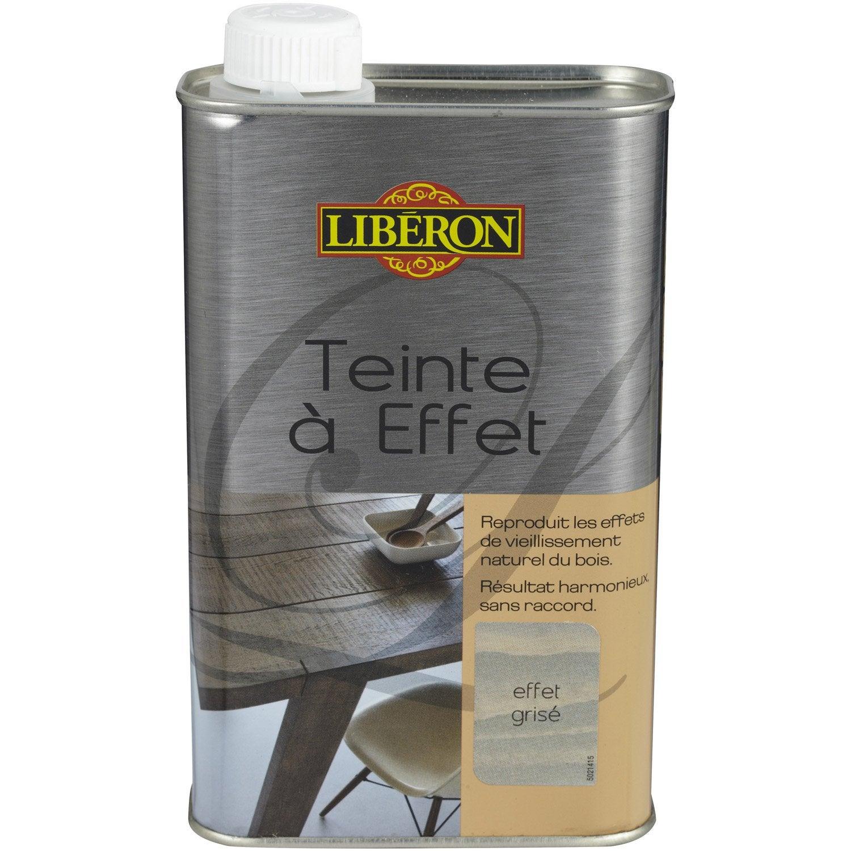 Teinte effet liberon 0 5 l effet gris leroy merlin - Peinture boisine de liberon ...