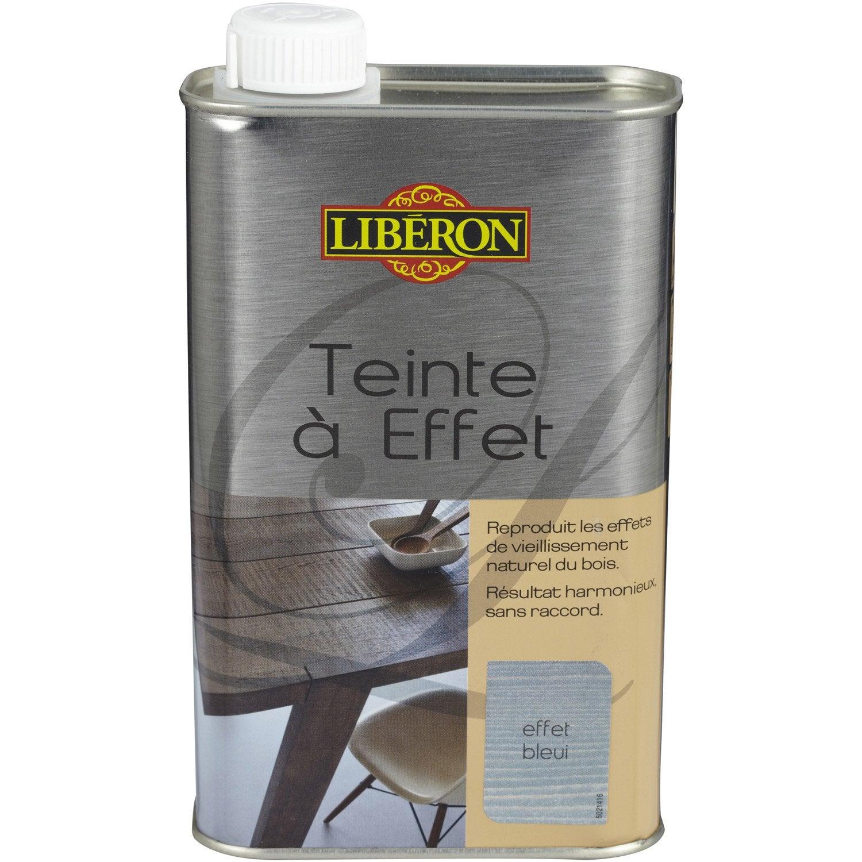 Teinte effet liberon 0 5 l effet bleui leroy merlin - Cire a effet blanchi liberon ...