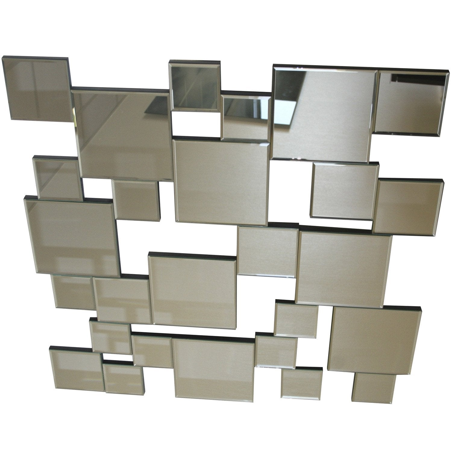 Miroir facettes monera 80x80 cm leroy merlin for Grand miroir leroy merlin
