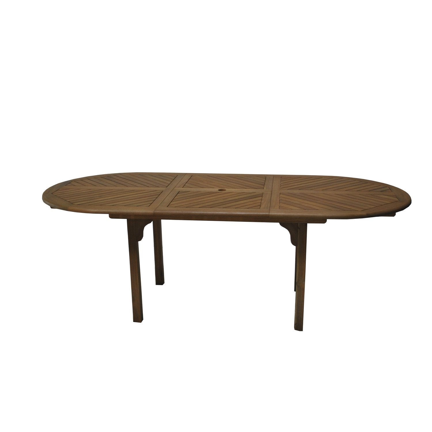 Table de jardin durban ovale look teck 6 8 personnes for Table exterieur 8 personnes