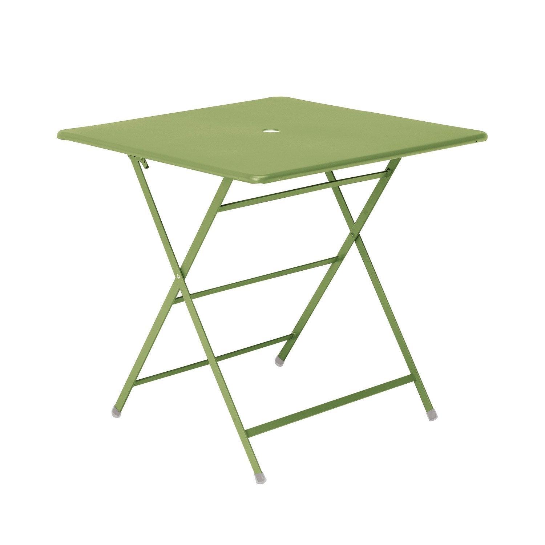 Table de jardin carree prix r duit avec brico depot ou leroy merlin - Table jardin brico depot montpellier ...
