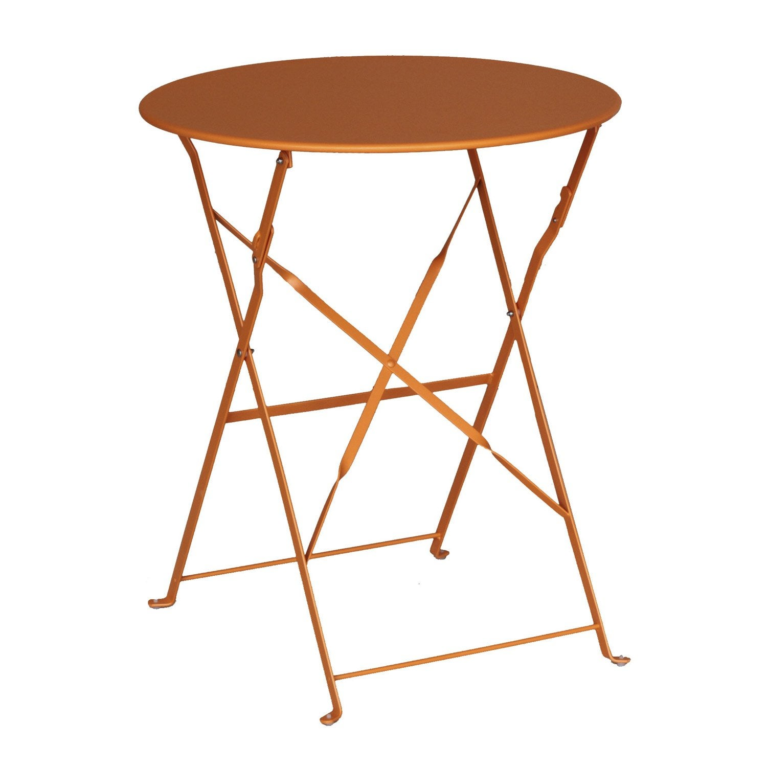 Table de jardin naterial flore ronde orange 2 personnes leroy merlin - Table jardin naterial villeurbanne ...