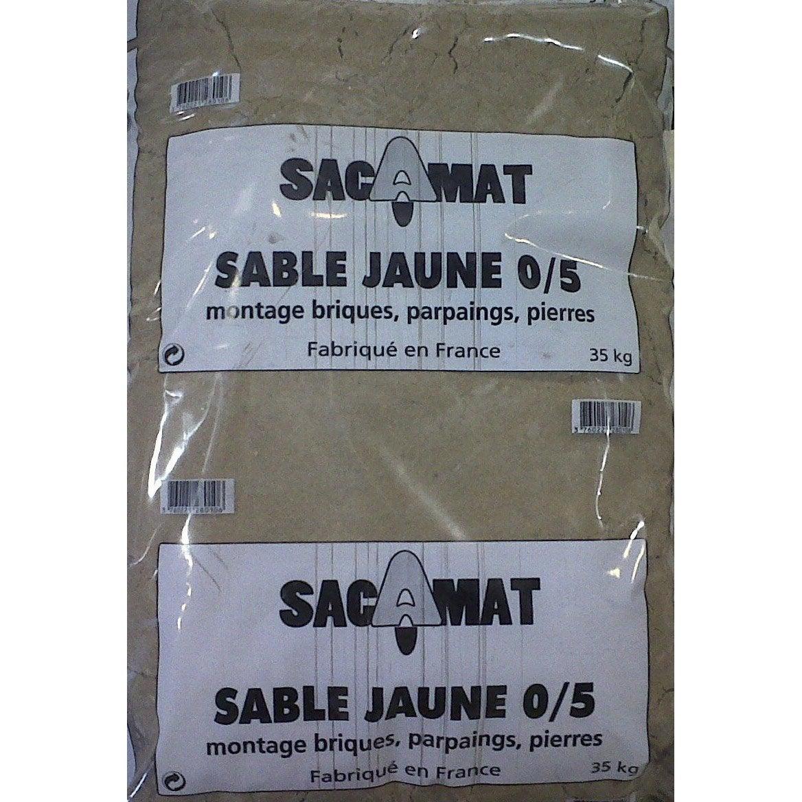 Sac de sable jaune 0 5 35 kg leroy merlin - Sable leroy merlin ...