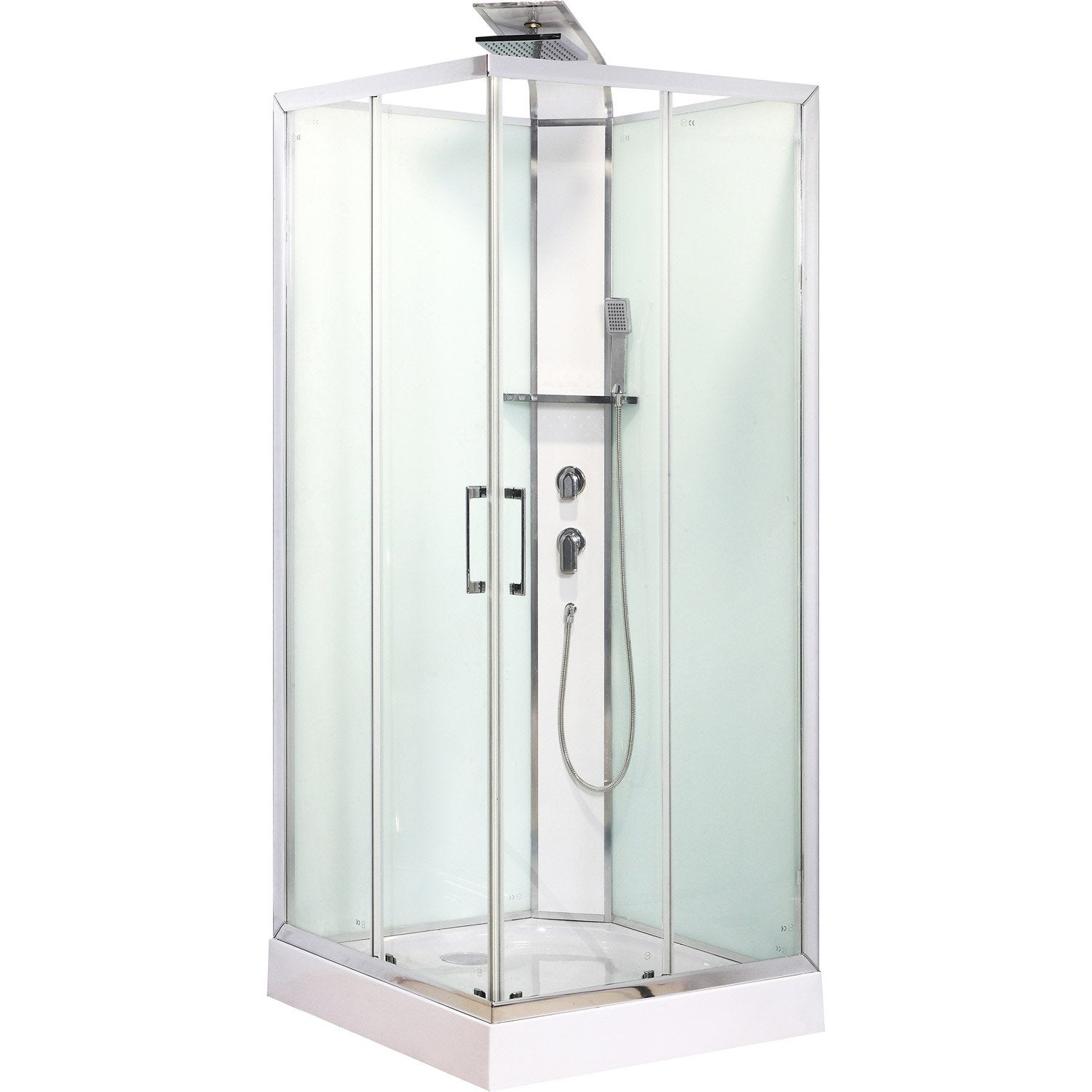 Cabine de douche carr 80x80 cm remix leroy merlin for Leroy merlin colonne de douche