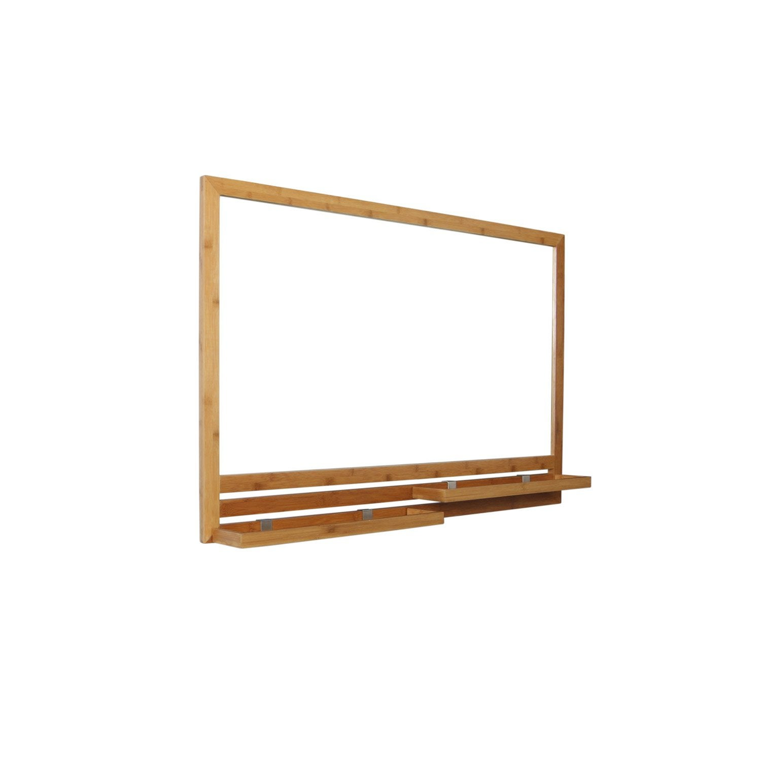 Miroir avec tablette bambou l 93 0 cm natural leroy merlin for Miroir tablette