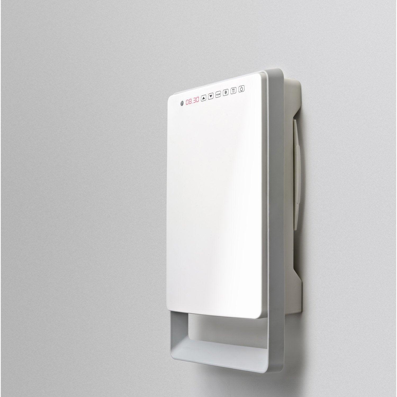 Radiateur soufflant salle de bain fixe lectrique aurora touch gris 1800 w - Radiateur salle de bain mixte soufflant ...