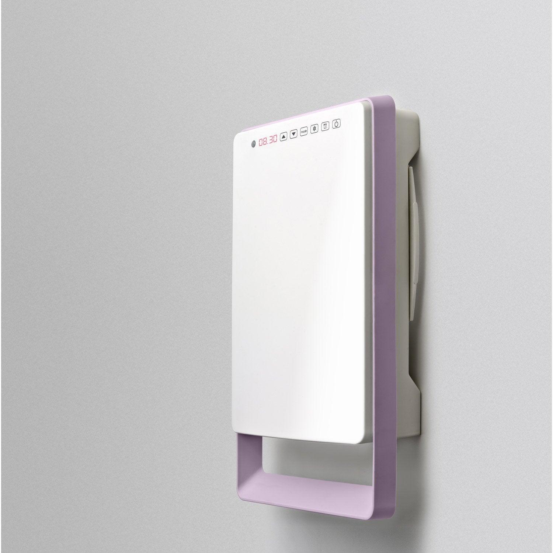 Radiateur soufflant salle de bain fixe lectrique aurora touch parme 1800 w leroy merlin - Radiateur salle de bain electrique ...