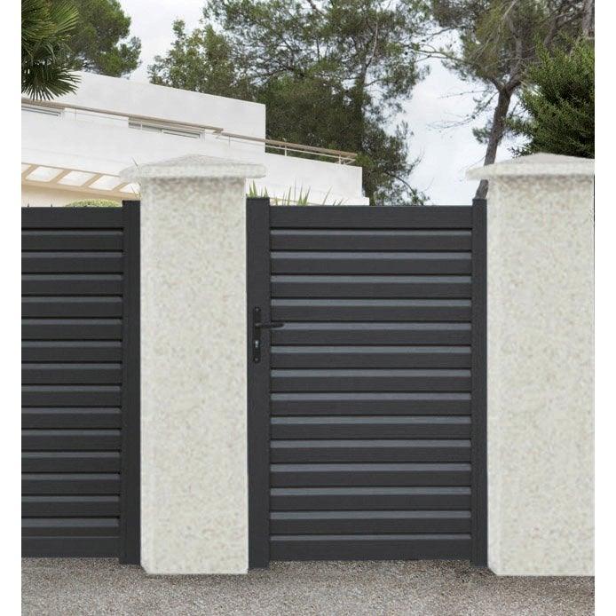 portillon battant en aluminium elys x cm. Black Bedroom Furniture Sets. Home Design Ideas