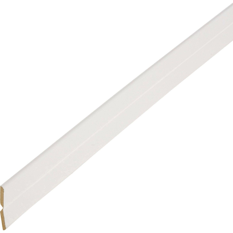 Baguette d 39 angle m dium mdf pliable et variable blanc for Baguette carrelage leroy merlin