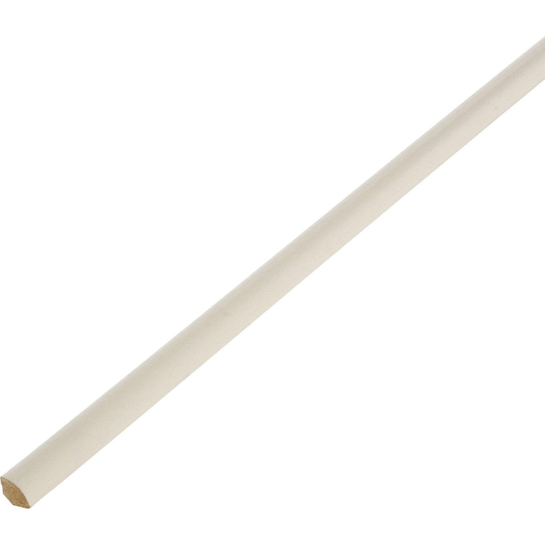 quart de rond m dium mdf blanc ivoire 1 14 x 14 mm l 2 4 m leroy merlin. Black Bedroom Furniture Sets. Home Design Ideas