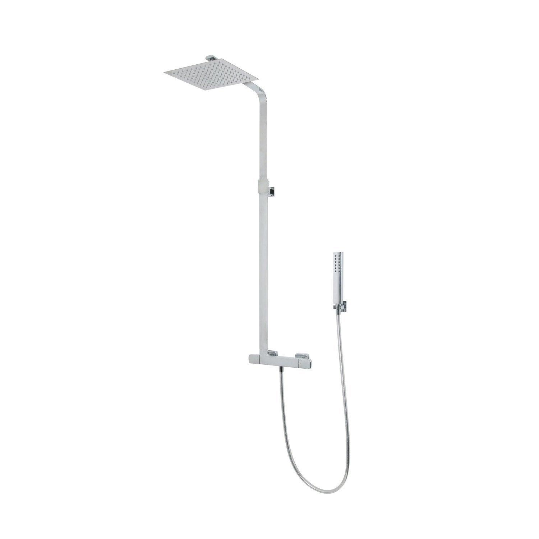 Colonne de douche avec robinetterie sarodis slim leroy - Leroy merlin colonne douche ...