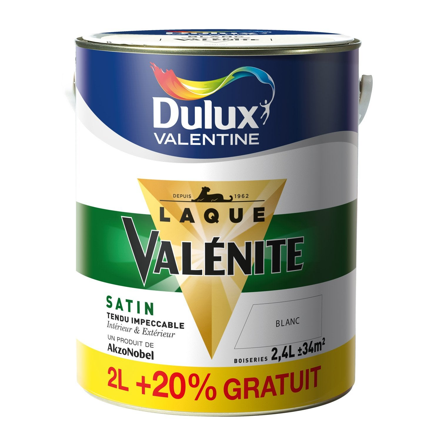 peinture val nite dulux valentine blanc 2 l 20 gratuit leroy merlin. Black Bedroom Furniture Sets. Home Design Ideas