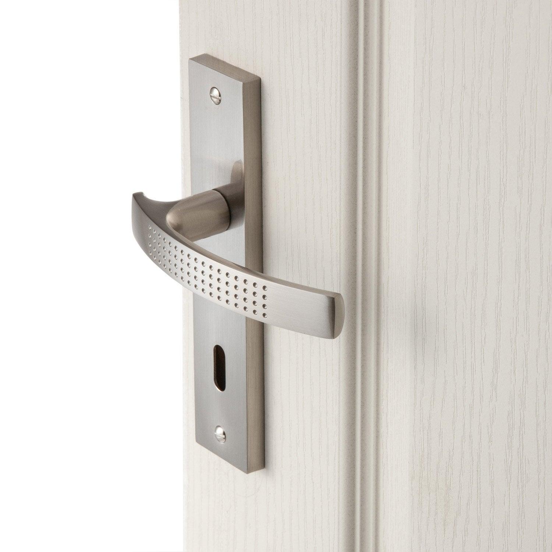 2 poign es de porte louna trou de cl aluminium 165 mm - Poignees de porte design ...