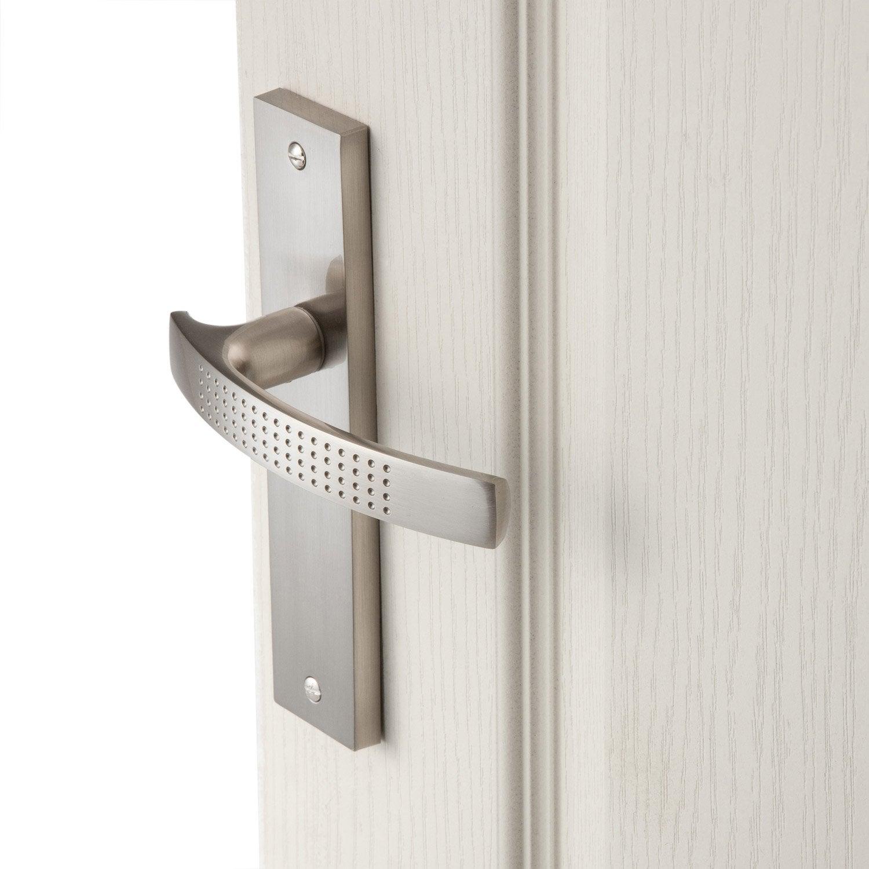 2 poign es de porte louna sans trou aluminium 165 mm - Poignee de porte leroy merlin ...