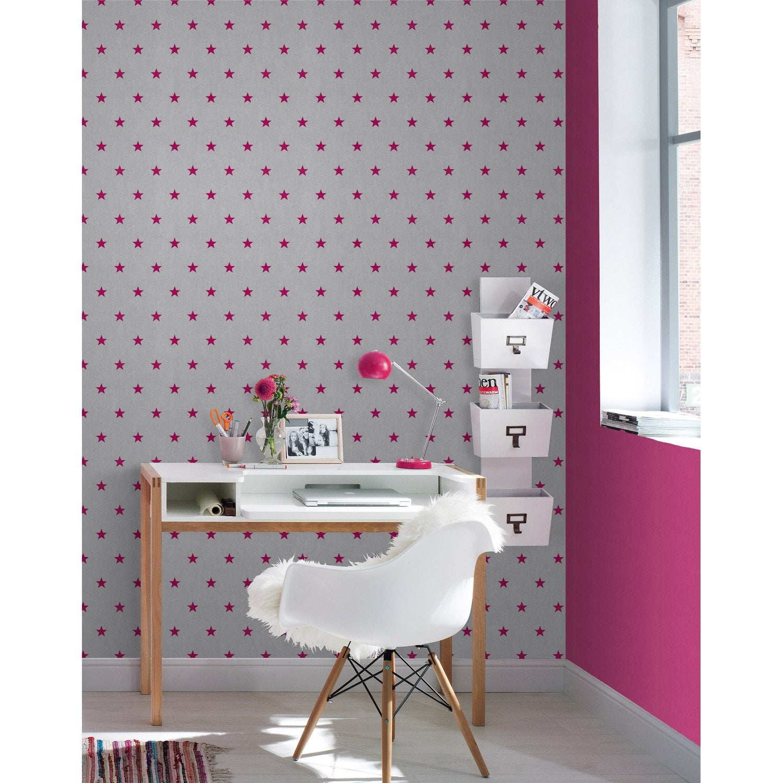 papier peint papier navy rose leroy merlin. Black Bedroom Furniture Sets. Home Design Ideas