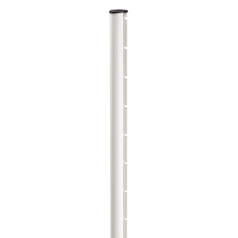 Poteau encoche axor blanc en acier galvanis leroy merlin for Table exterieur galvanise