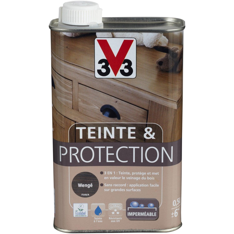 Teinte et prot ge v33 0 5 l weng leroy merlin for Peinture bois wenge