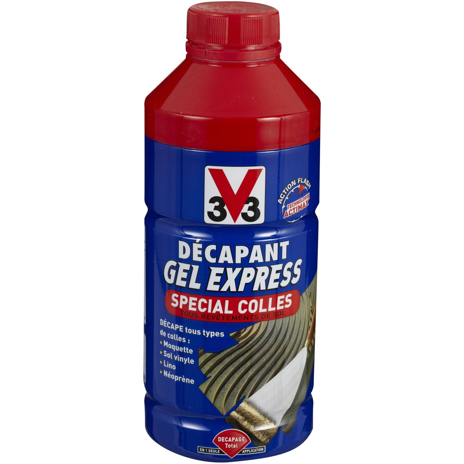 D capant colle v33 gel express 1 l leroy merlin for Decaper carrelage