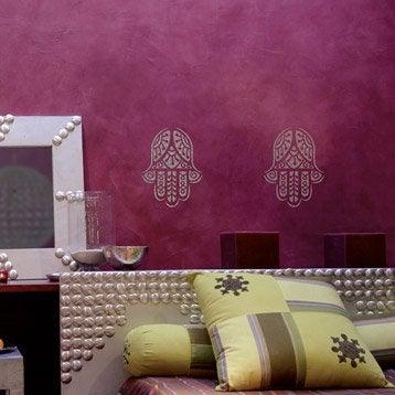 Peinture pochoir relief paillette maison deco argent 0 - Paillette pour peinture ...