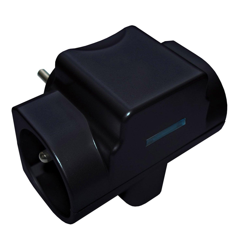 multiprise sans fil 3 prises noir zenitech leroy merlin. Black Bedroom Furniture Sets. Home Design Ideas