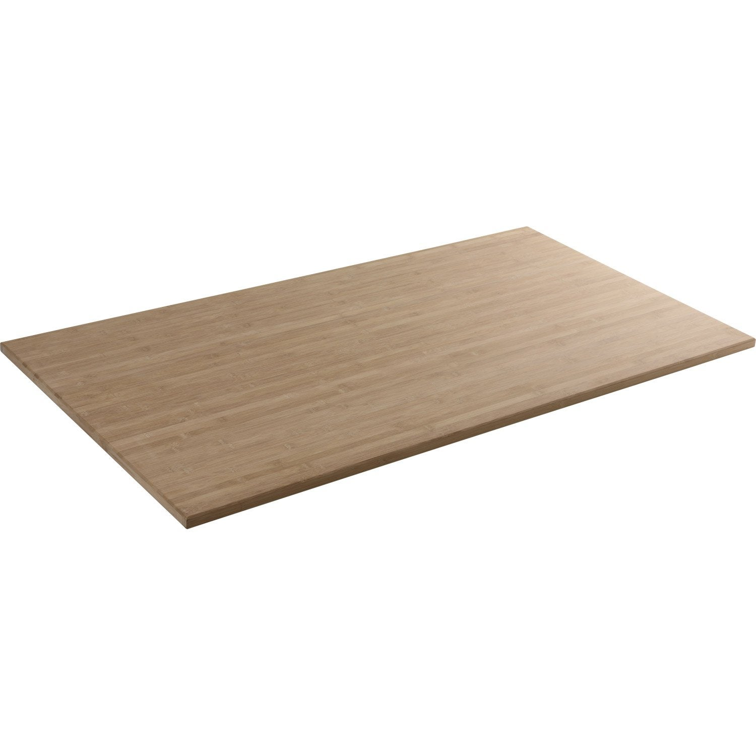 Plateau de table bois massif x cm mm for Plateau table exterieur