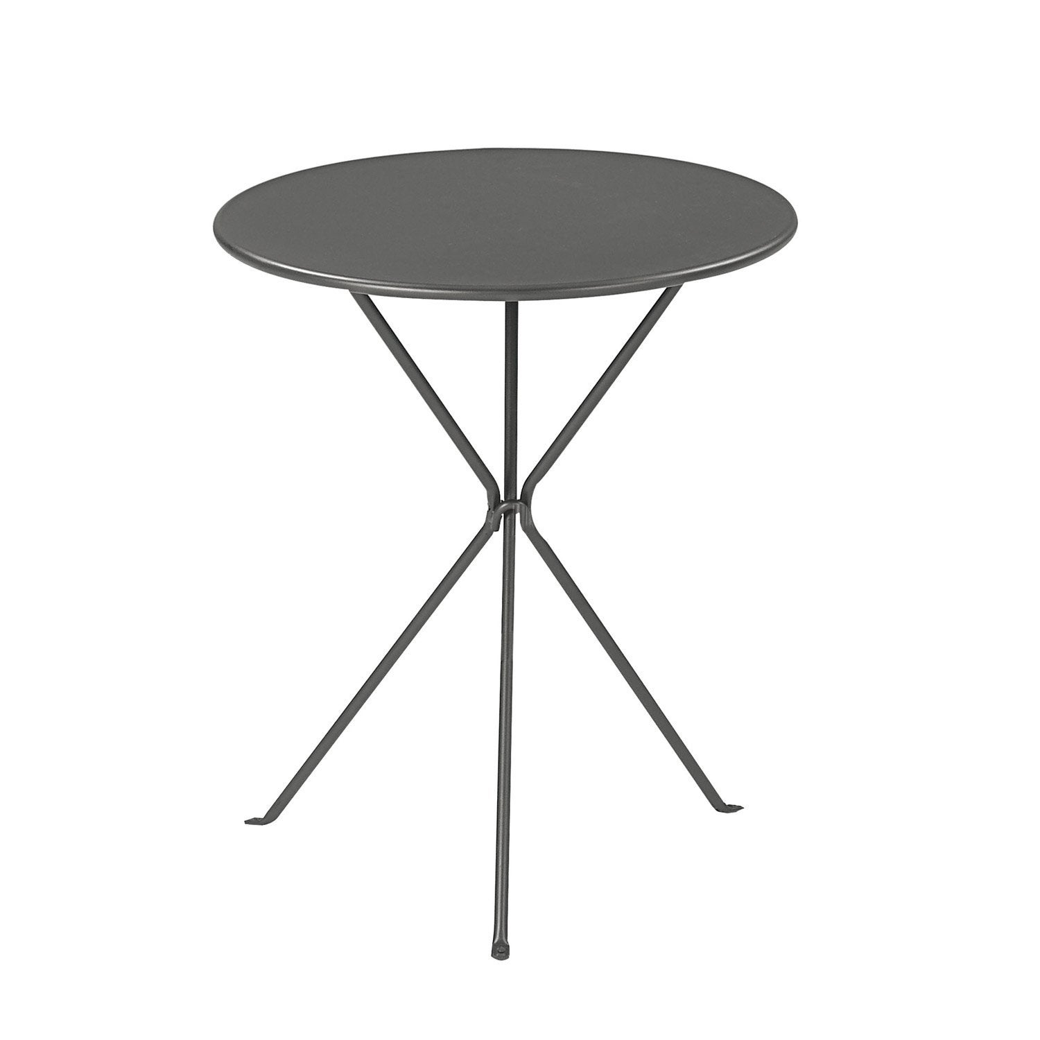 Table de jardin ronde gueridon oasi by emu leroy merlin for Table exterieur noire