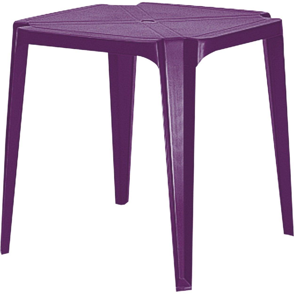 Table de jardin en r sine sun purple grosfillex leroy merlin - Leroy merlin table de jardin en resine ...