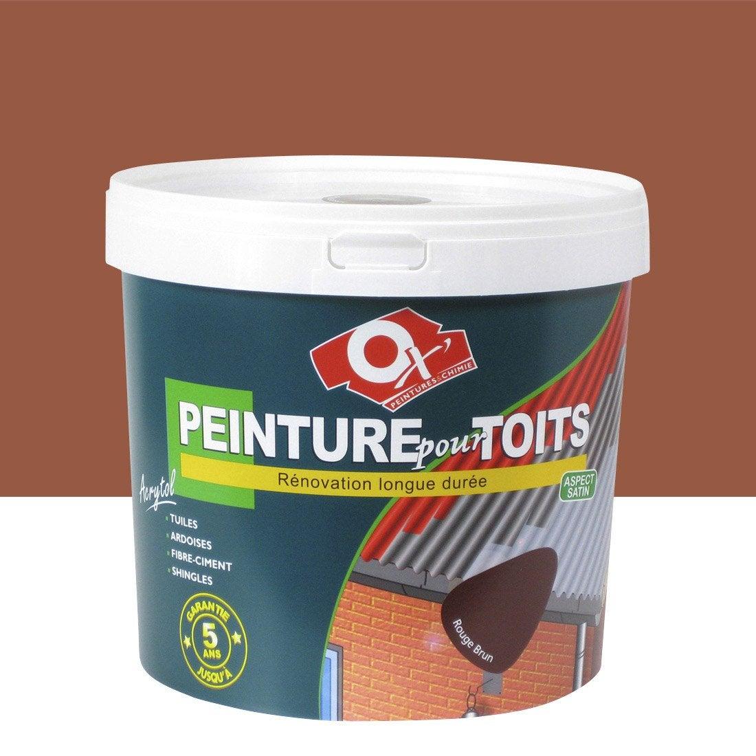 Peinture toiture extérieure Acrytol OXYTOL, ocre rouge, 10 L Leroy Merlin # Leroy Merlin Peinture Extérieure Bois