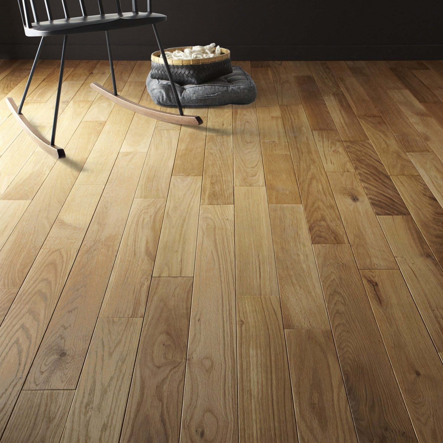 Parquet Massif Ch Ne Doux Huil S Aero Solid Leroy Merlin