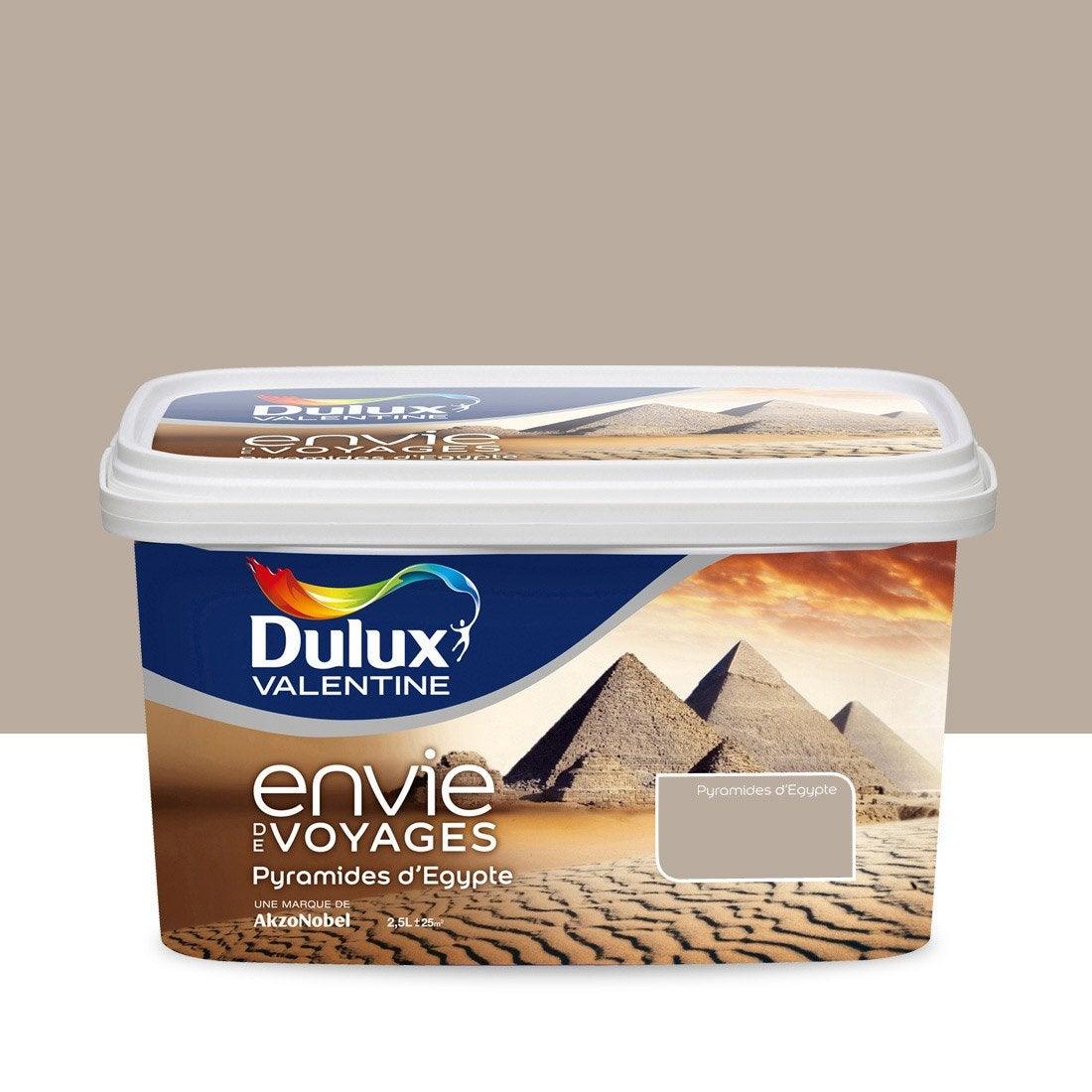 peinture envie de voyage dulux valentine beige pyramides d 39 egypte clair 2 5 l leroy merlin. Black Bedroom Furniture Sets. Home Design Ideas