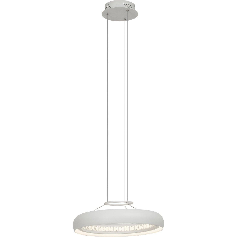 Suspension design ring m tal blanc 1 x 16 w brilliant leroy merlin - Suspension metal blanc ...