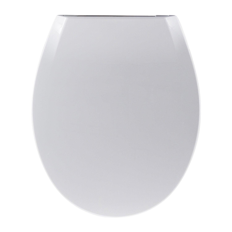 abattant frein de chute d clipsable blanc plastique thermodur sensea uno leroy merlin. Black Bedroom Furniture Sets. Home Design Ideas