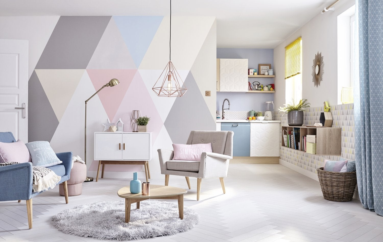 du papier peint v g tal pour un style exotique leroy merlin. Black Bedroom Furniture Sets. Home Design Ideas