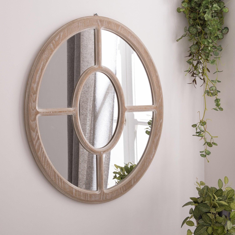miroir charme ovale ch ne clair x cm leroy merlin. Black Bedroom Furniture Sets. Home Design Ideas