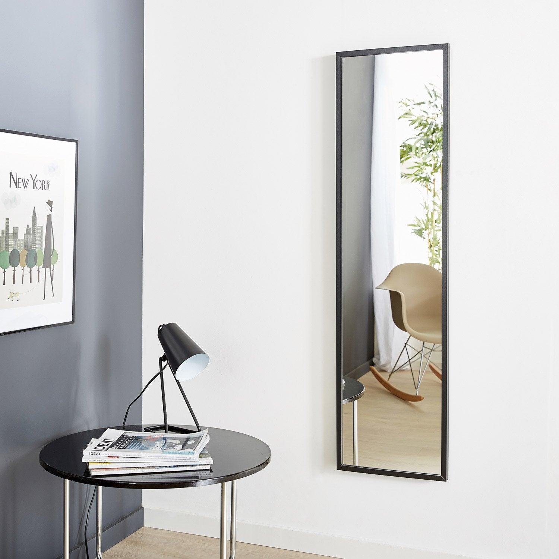 Miroir milo inspire noir x cm leroy merlin for Carre de miroir a coller