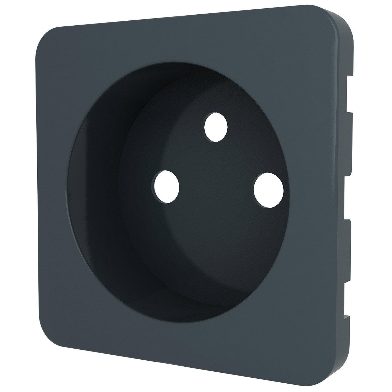 cache prise avec terre cosy lexman gris zingu n 1. Black Bedroom Furniture Sets. Home Design Ideas