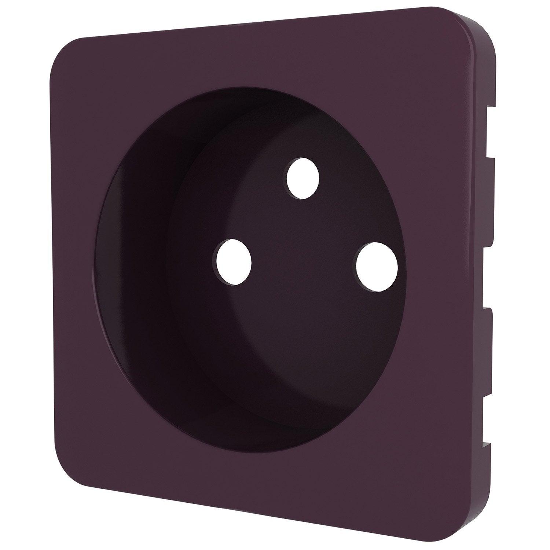 cache prise avec terre cosy lexman violet aubergine n 1. Black Bedroom Furniture Sets. Home Design Ideas
