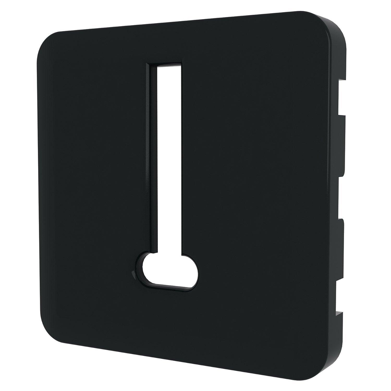 cache pour prise t l phone lexman noir noir n 0 leroy. Black Bedroom Furniture Sets. Home Design Ideas