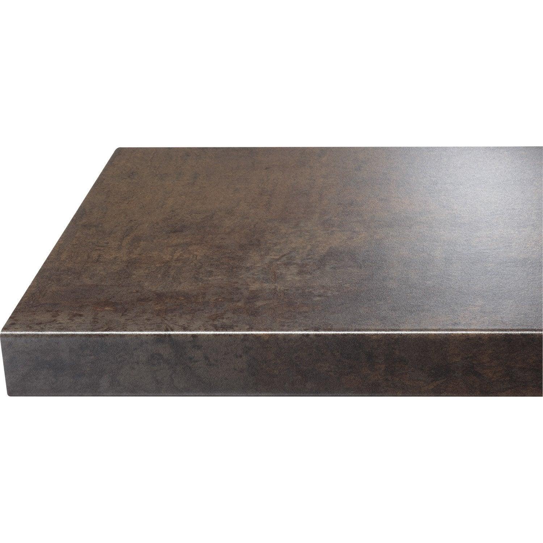 Chant de plan de travail stratifi effet cuivre mat for Plan de travail cuisine gris brillant