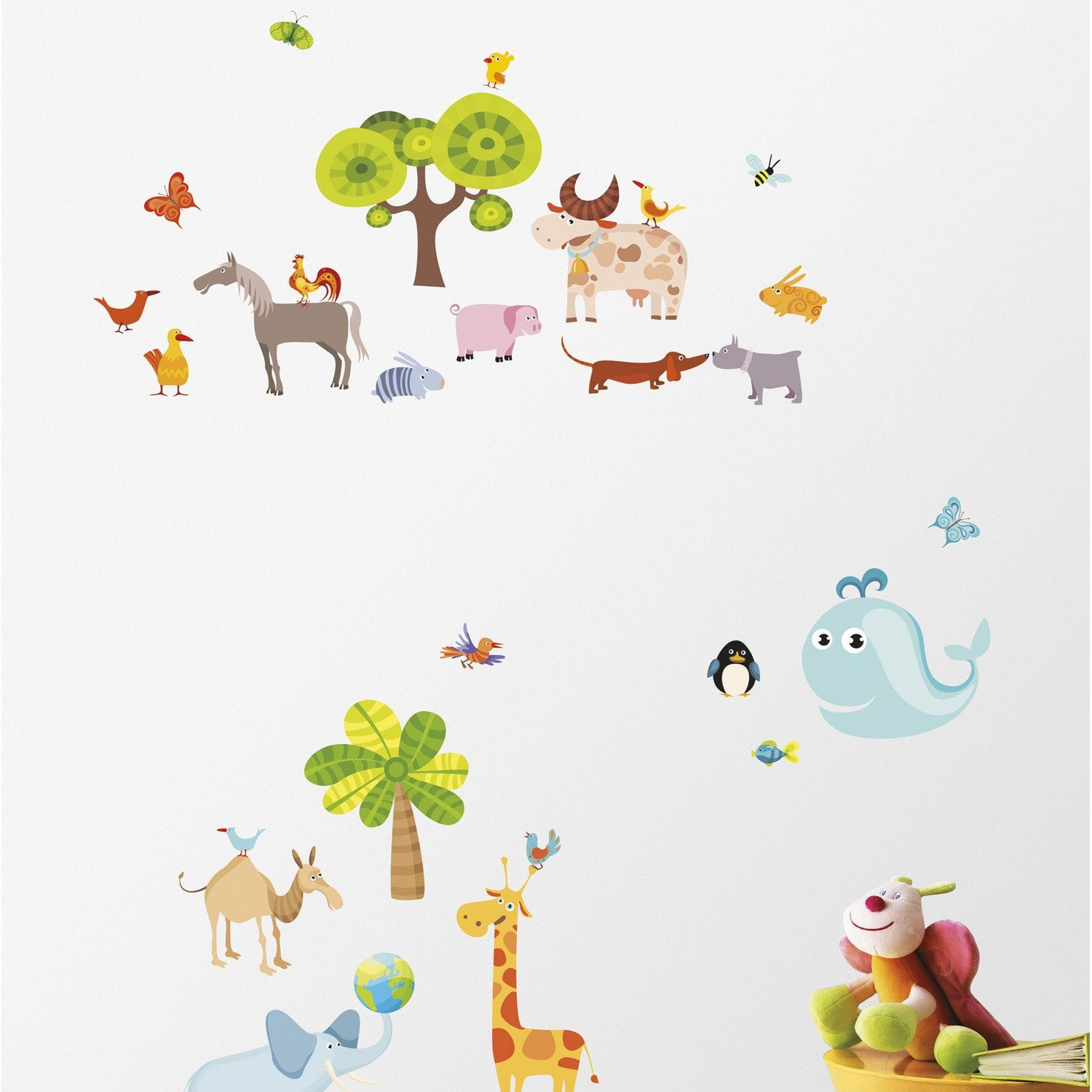 Sticker planet 23 5 cm x 67 cm leroy merlin - Leroy merlin plantes ...
