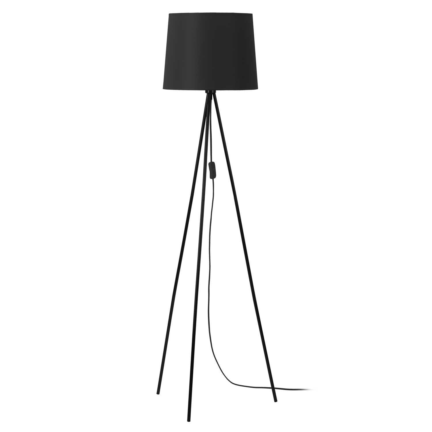 lampadaire miya 146 cm noir 60 w leroy merlin. Black Bedroom Furniture Sets. Home Design Ideas