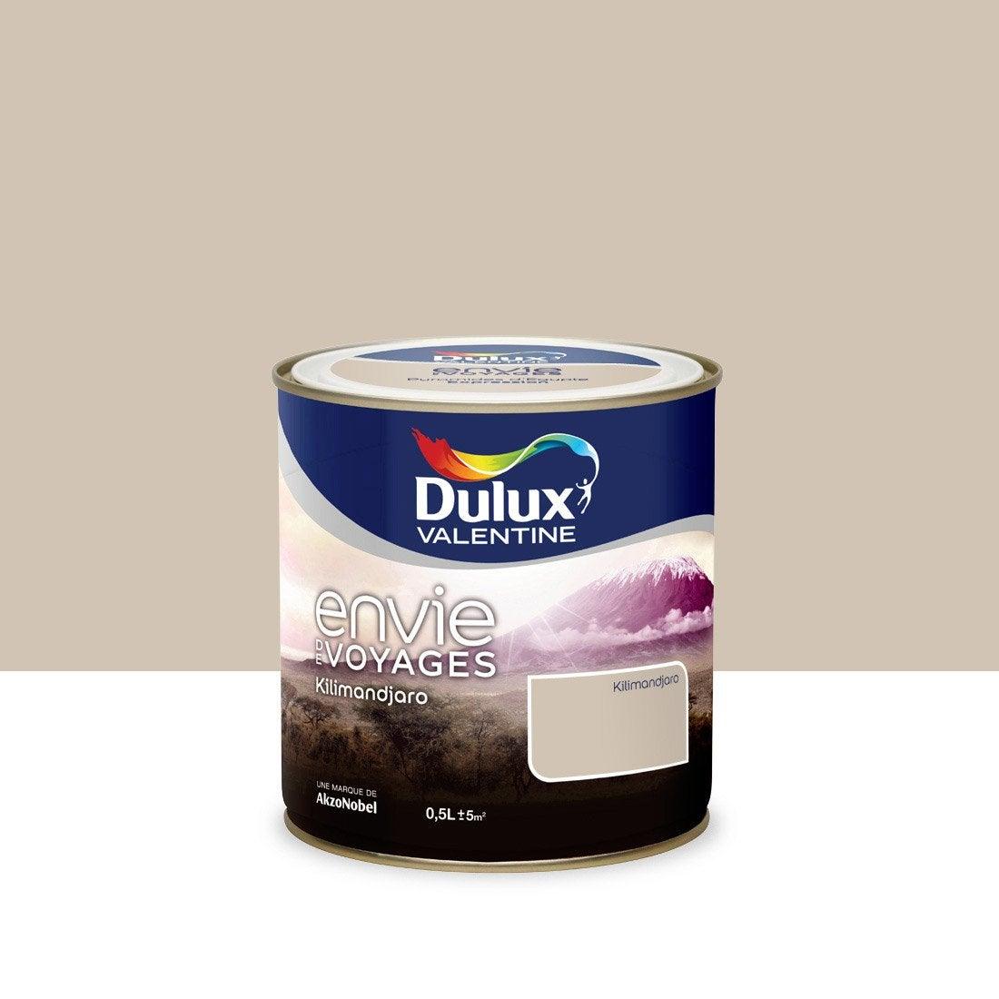 Peinture envie de voyage dulux valentine beige kilimandjaro moyen 0 5 l leroy merlin for Peinture beige leroy merlin