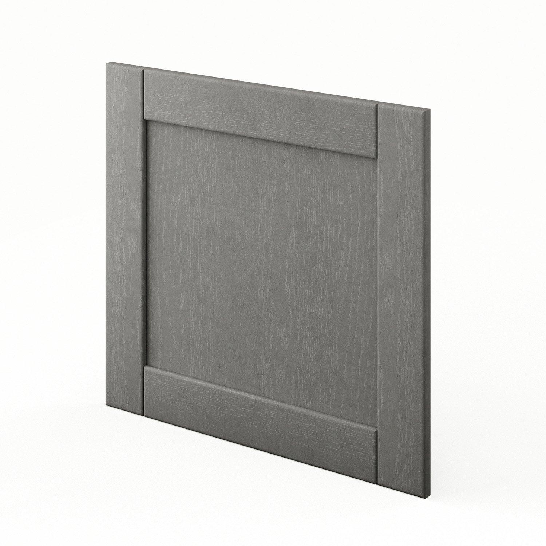 Porte pour lave vaisselle de cuisine gris shadow x h for Decoration porte lave vaisselle
