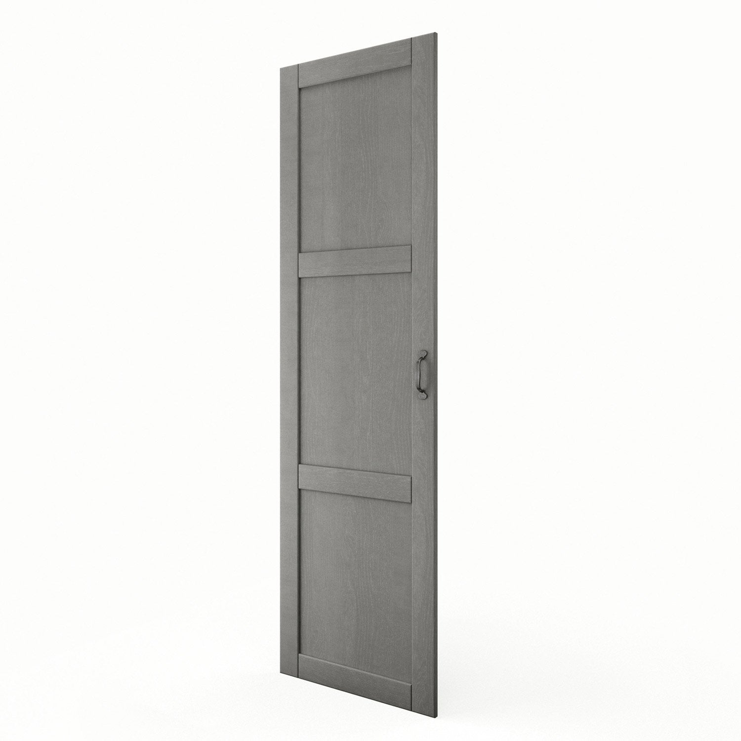 Porte colonne de cuisine gris shadow x cm for Porte 60 cm leroy merlin